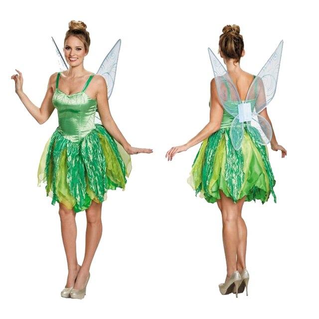 erwachsene halloween party kostume blume fee tinker bell fur frauen elf tinkerbell prinzessin kleid kostum