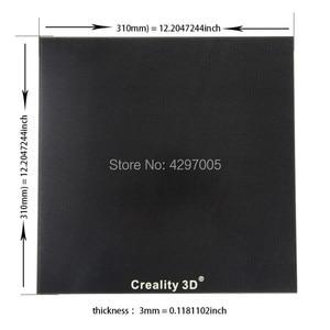 Image 3 - Yeni Creality 3D yazıcı siyah karbon silikon kristal yapı Hotbed platformu 310*310 MM cam Creality 3D CR 10/10S