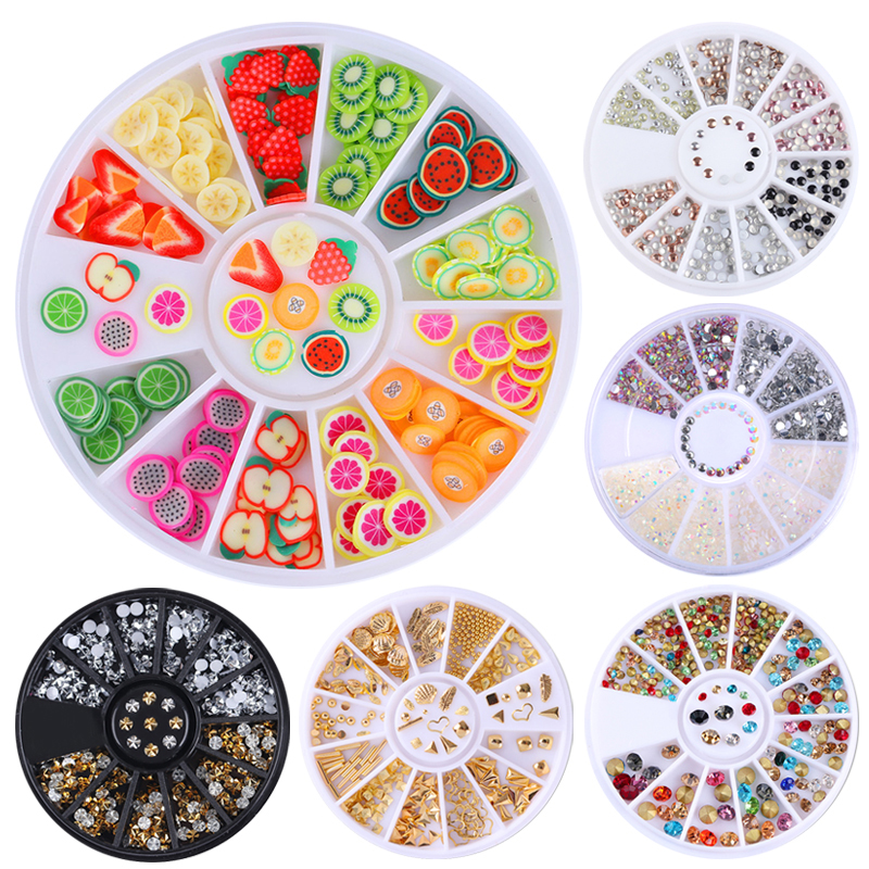 1 Box Multi Color Shinning Nail Rhinestones Sharp Flat Back Studs 3D Nail Decor Manicure Nail Art Decoration In Wheel mp620 mp622 mp625 projector color wheel mp620 mp622 mp625