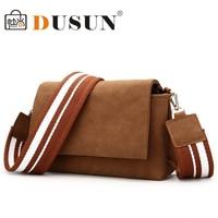 e3c600f57b65c ... crossbody çantaları AA175. Teklifi Göster. DUSUN Women Wide Strap  Fashion Shoulder Bag Nubuck Leather Casual Handbag Vintage Women Messenger  Bag Mini