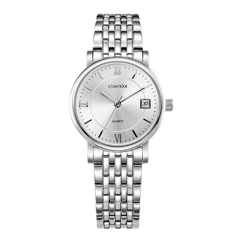 COMTEX Women Watches Fashion Casual Watch  Luxury Ladies Watch waterproof Wristwatch Silver Quartz Clock Women Watch Brand