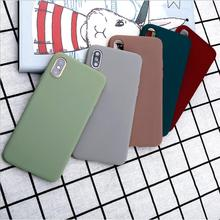 Buy Candy Color Phone Case For iPhone XS Max XR X S Simple Plain Silicone Cover For iPhone 6 6S 7 8 Plus 5 5S SE Soft TPU Case Capa directly from merchant!