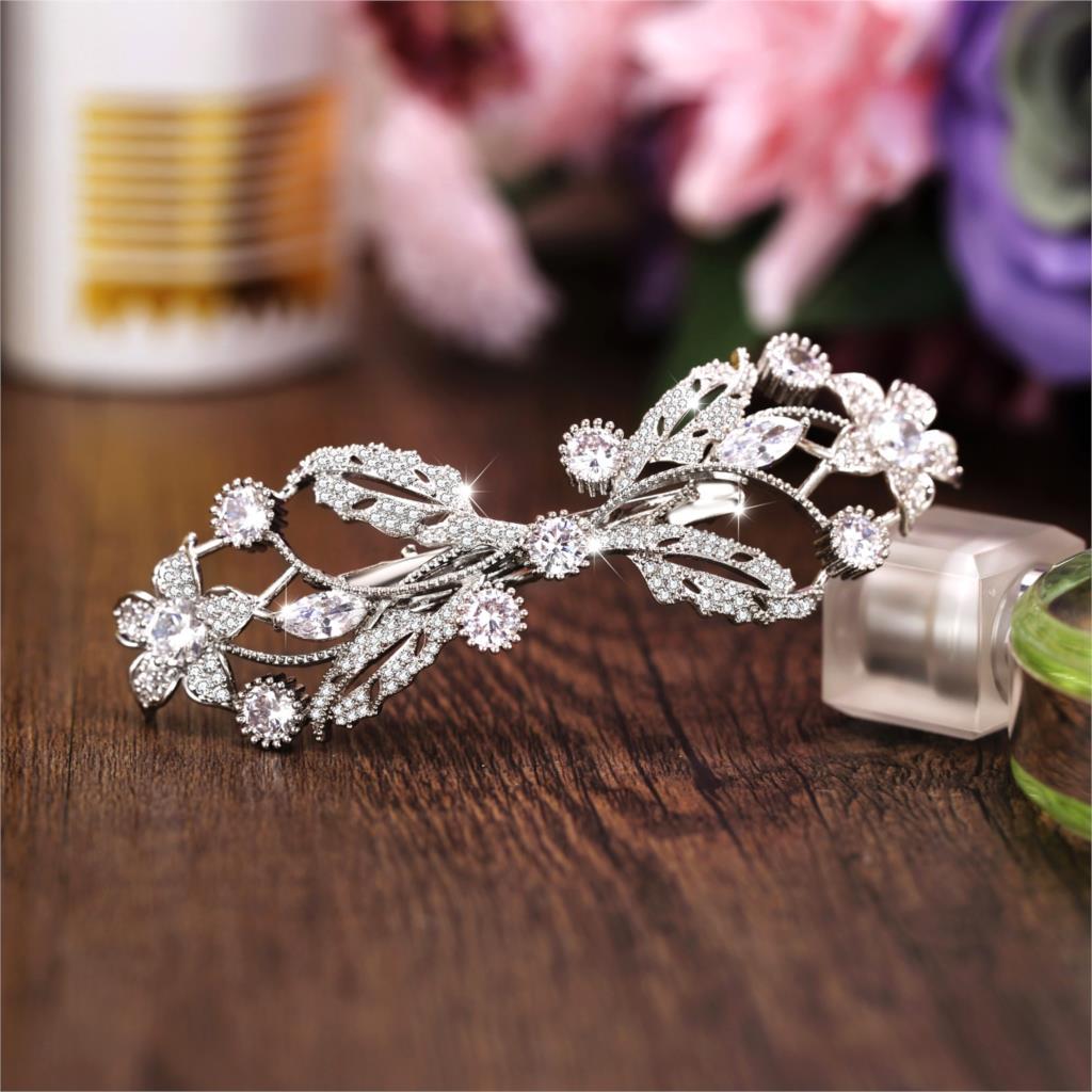 Paved Full Zircon Hair Clip All Cubic Zircon Hairpin CZ Bride Hair Jewelry Bridal Headpiece Wedding Hair Accessories WIGO1249 цена