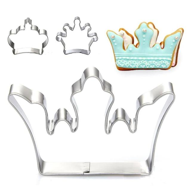 Fairy Tale Princess Crown Stainless Steel Cookie Cutters Mold Cutting Cake Chocolate Cutter Decoration 20