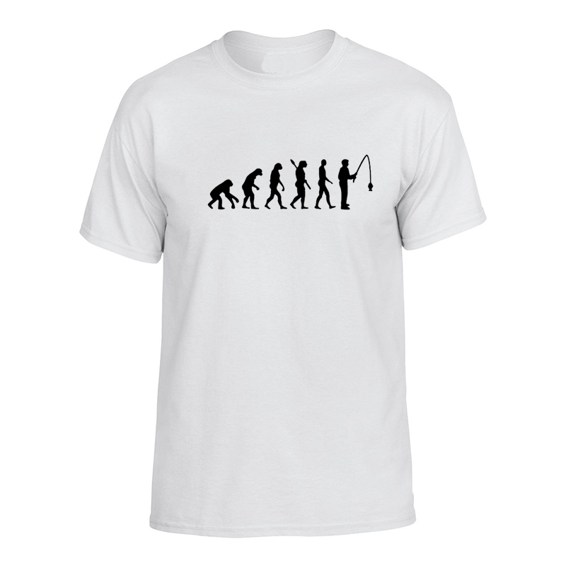 2017 Men T Shirt Anime Tumblr Fashion Vintage Punk Clothing Evolution Fish font b Geek b