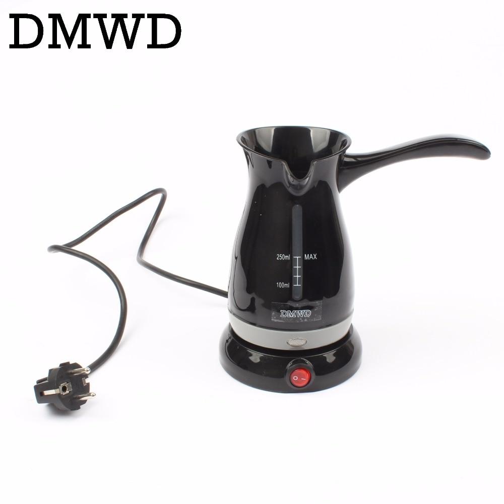 DMWD Automatic Stovetop Turkey Coffee Maker electric Mocha Espresso Latte kettle Cappuccino Milk foam Coffee Boiling Pot EU plug 04 nude mocha