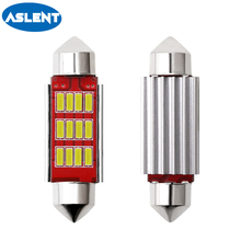 Aslent 2pcs Car LED Reading Bulb 31mm 36mm 39mm 41mm C5W C10W Super Bright 4014 SMD Canbus Error Free Auto Interior Doom Lamp