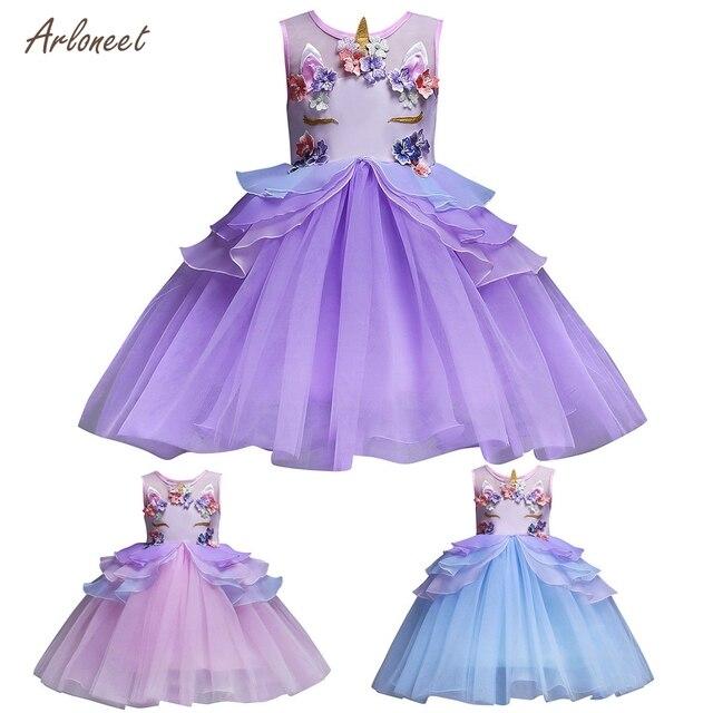 35ec1e574 ARLONEET Chiffon Baby Girls Princess Unicorn Bridesmaid Pageant ...