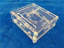 Transparent Pi Box case shell for Raspberry Pi model A not Raspberry pi model b plus + 1pcs pure aluminum heat sink set kit