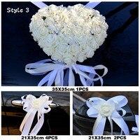 2019 NEW Wedding centerpieces Car Decorative Flowers pure white color Wedding artificialFlowers Wreath Decorative fake Flowers