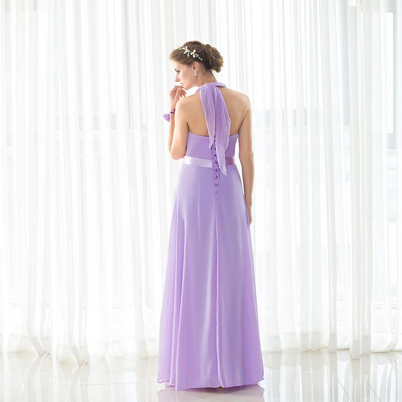 Lavender 2018 Cheap Bridesmaid Dresses Under 50 A line Halter Floor ...