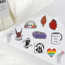 US $0.15 40% OFF|Punk Rock pins grim Reaper Skeleton Heart Love it till die Brooches Badges Bag Enamel pins Gifts For Friends Jewelry wholesale-in Brooches from Jewelry & Accessories on AliExpress