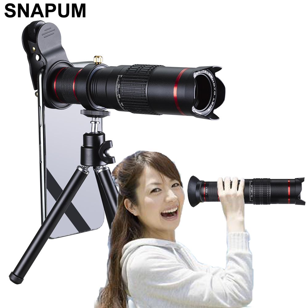 SNAPUM Cellphone mobile phone HD 4K 22x Camera Zoom optical Telescope telephoto Lens For Samsung iphone