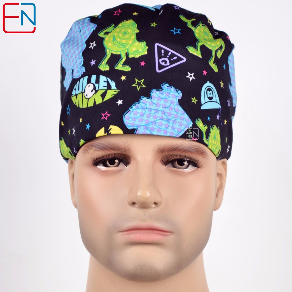 unisex surgical hats Mike and Sulley image