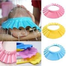 все цены на 2Pcs Soft Baby Kids Children Shampoo Bath Shower Cap Adjustable Baby Shower Hat Baby Shampoo Cap Wash Hair Shield онлайн