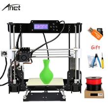 Anet A8 Autol Tesviye Impresora 3D Yazıcı DIY Kit Imprimante 3D Yazıcılar Alüminyum Isıtmalı Destek Off-line Hediye 10 m Filament