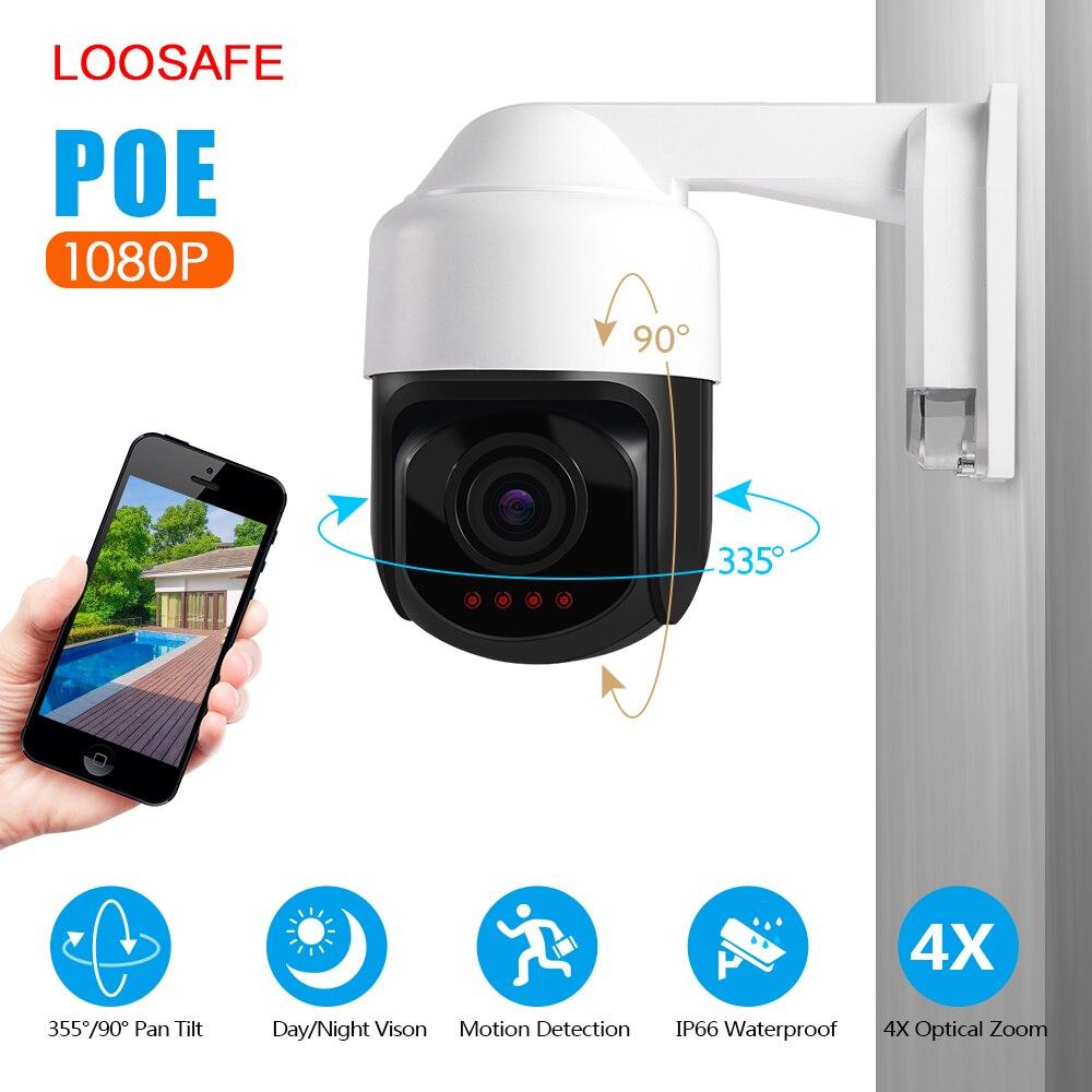 Loosafe 4X Zoom PIZ POE caméra IP66 caméra extérieure Full HD 1080 P PTZ vitesse dôme IP caméra CCTV sécurité vidéo ONVIF IR 30 M