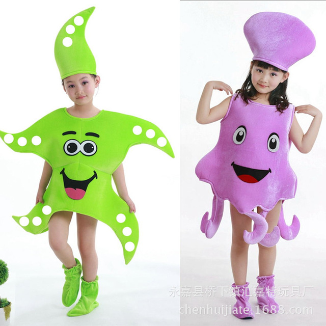 Funny Child Starfish Costume Child Octopus Costume Starfish Octopus