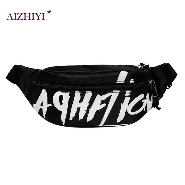 Girls Boys Style Waist Pack College Casual Canvas Belt Bag Zipper Casual  Chest Bags Women Fanny Pack Bag Fashion Hip pack bag e0ea9d442