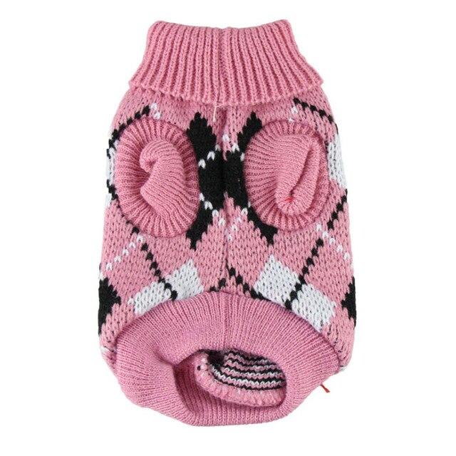 Perro ropa para mascotas chaleco azul rosado suéter caliente del ...