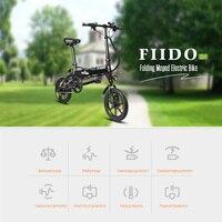 FIIDO D1 7.8AH складной велосипед Батарея мини Алюминий сплав умные Электрический велосипед мопед велосипед EU вилкой Черный Белый