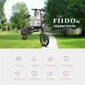 FIIDO D1 7.8AH 10.4AH Folding Electric Bicycle Battery Mini Aluminum Alloy Smart Electric Bike Moped Bicycle EU Plug BLACK White