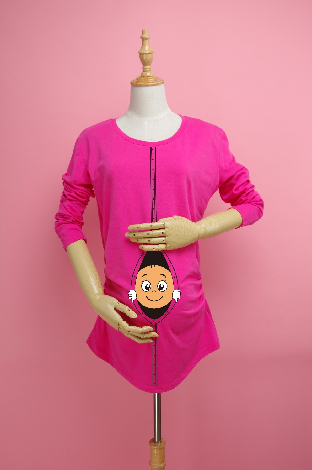 eb47ceae90f 2018 Funny and Cute Long sleeves Maternity Shirt