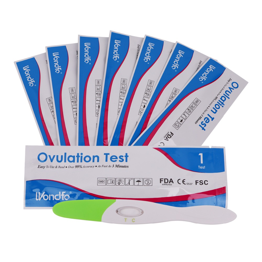 Wondfo 7pcs Ovulation Urine Test Midstream LH Tests Kit First Response Ovulation Kits, Over 99% Accuracy Earliest Detection