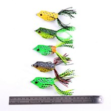 5pcs 13g 6cm New Soft Frog Lure Bass Fishing Double Hooks Bait Crankbaits fishing Tackle Topwater Gear Accessories 5 colors
