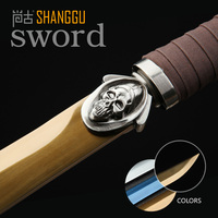 Sorcerer Dolphin White Gold Black Tricolor Kung Fu Sword Damascus Steel Movie Game Characters Use Swords