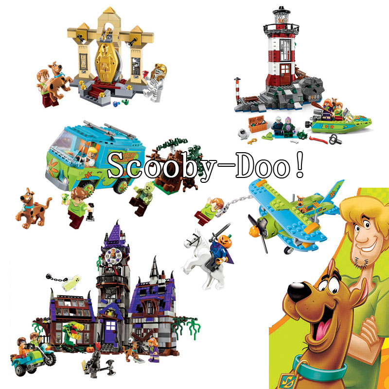 Bela Compatible legoe Scooby Doo Dog Haunted Hollywood Mystery Plane Adventures Horseman Lighthouse Castle Bricks Blocks New bela scooby doo haunted lighthouse building block model kits scooby doo marvel toys compatible legoe