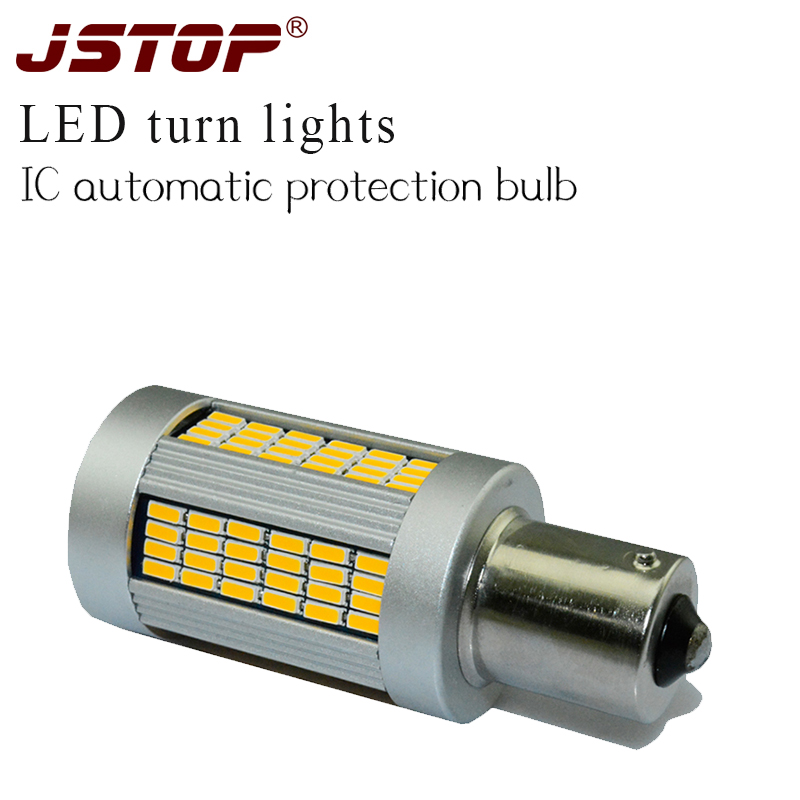 JSTOP 206CC301 408 4008 508 Highlighted No error No flicker 12V Turn bulbs P21W exterior lamp PY21W Front turn signal led light