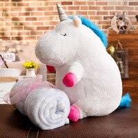50cm Kawaii Unicorn Plush Toy Doll with Blanket Soft Animal Horse Toy Stuffed Unicorn Unicornio Peluche Toys For Kids Girls Gift