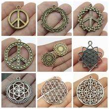New Peace Sign Pendant Mix Charms Metal Sign For Jewelry Making Diy Craft Supplies Flower Charm 2019 mix elephant necklace pendant charms for jewelry making diy craft supplies men jewelry elephant god