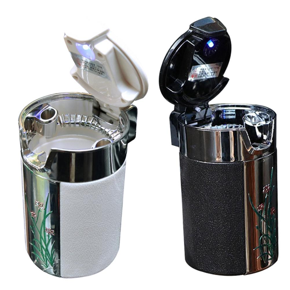 LED Auto Car Truck Ashtray Cigarette Smoke Ash Cylinder Cup Holder Portable