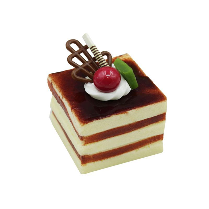 Simulation Square Cream Fruit Cake Artificial Lifelike Fake Small Cake Model Food Cake Kitchen Photography Props Decoration