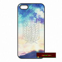 Attack on Titan Scouting Legion Hard Phone Cases Cover For iPhone 4 4S 5 5S 5C SE 6 6S 7 Plus 4.7 5.5