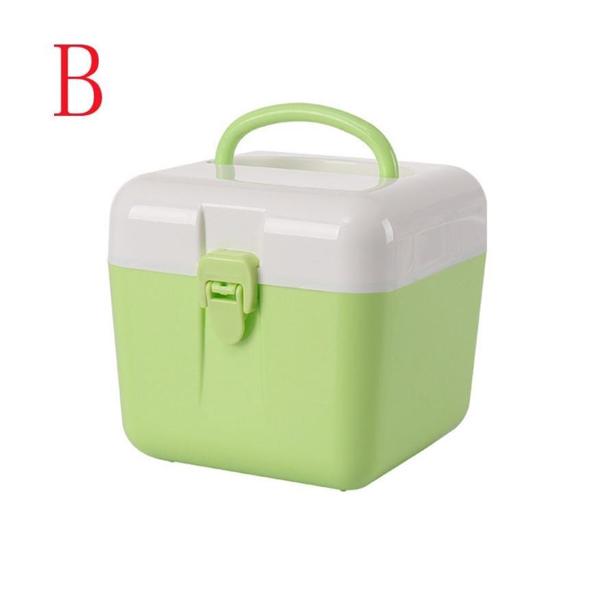 Oussirro красочные Пластик коробка для хранения с крышкой контейнер для сбора чехол для косметической медицине разное Happy продажи ap525