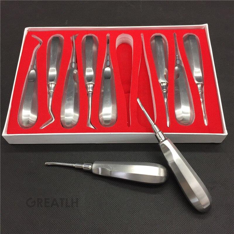 1 zestaw Dental dźwignie do korzeni zębów ekstrakcji zwichnięcie instrumenty chirurgiczne kleszcze zestaw w Wybielanie zębów od Uroda i zdrowie na  Grupa 1