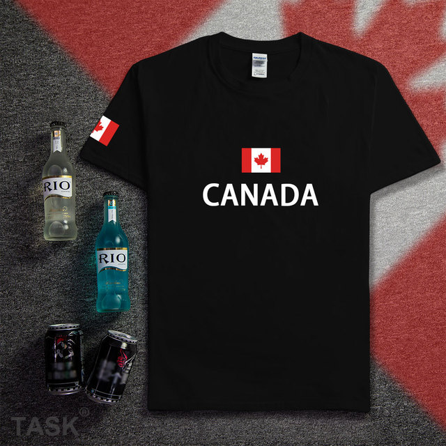 Kanada t-shirt männer trikots 2017 neue t-shirts 100% baumwolle nation team treffen fans streetwear fitness marke clothing homme ca