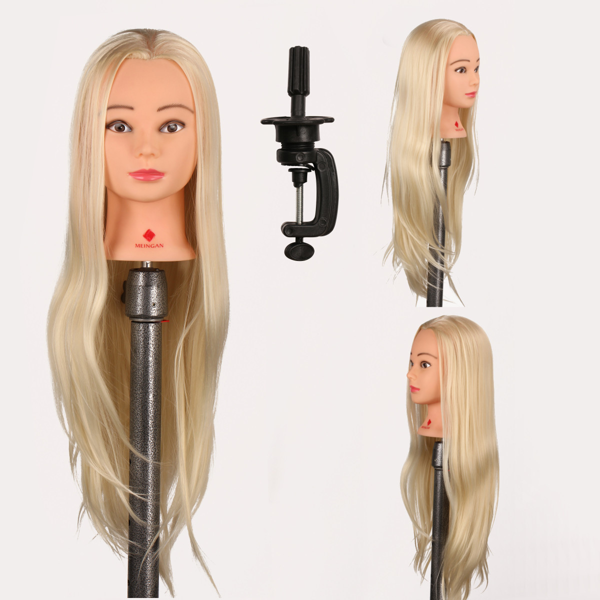 29 inch Hair Salon Hairdressing Training Practice Model Mannequin Doll Head With Clamp Holder 2019 New