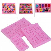 Dropshipping 3PC Number  Silica Gel Mould Cake Decorating Tools DIY Si