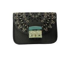 100 Real Photo Hollow Out Bag Luxury Brand Crossbody Bag Women Genuine Leather Bolsa Cowskin Shoulder