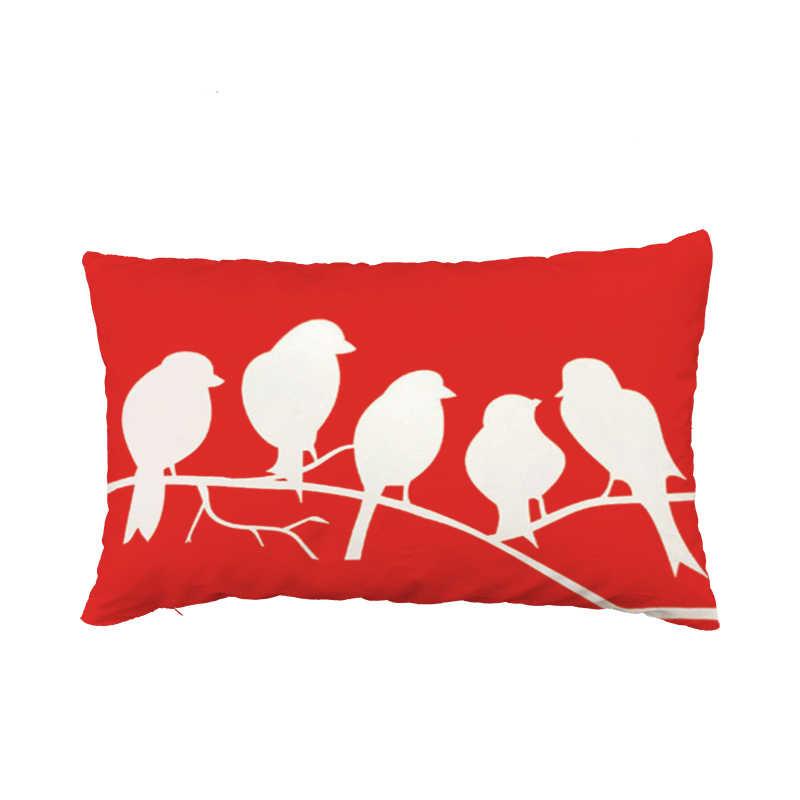 30x50 เซนติเมตรการ์ตูนนกเบาะรองนั่ง Fox Magpie Narwhal สี่เหลี่ยมผืนผ้าปลอกหมอนเอวที่นอนโซฟาตกแต่งโยนหมอน