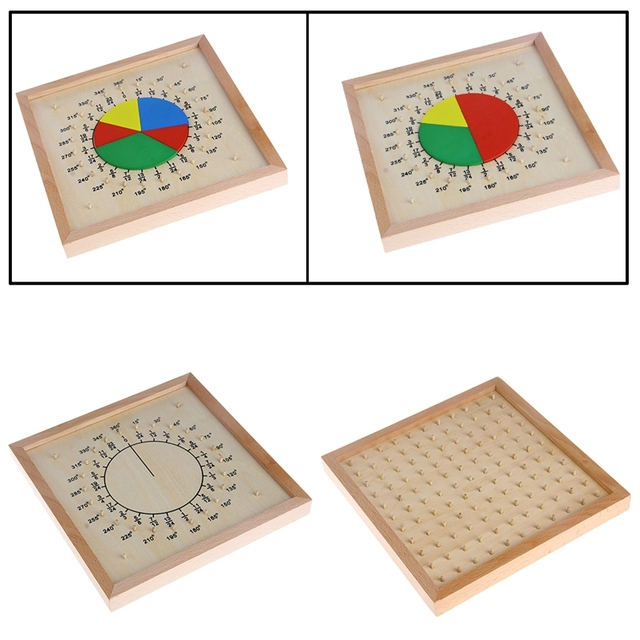 Montessori-Material-Wooden-Circular-Fractions-Scoreboard-Kid-Educational-Toy-Child-Educational-Gift-Math-Toy