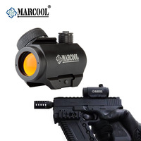 Marcool Black Hard Oxidized Surface 1x20 Hunting Hunting Scope Red Dot Gun Sight for Weaver Rails