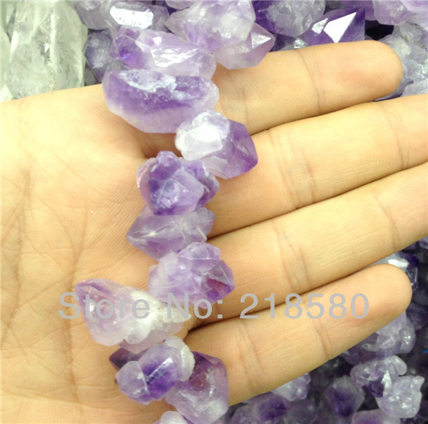 SLB 061 Natural Rough Quartz Amethysts Nugget beads,Raw Purple Crystal Beads 12 25mm