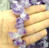 SLB 061 Natural Rough Quartz Amethysts Nugget beads,Raw Purple Crystal Beads 12 25mm