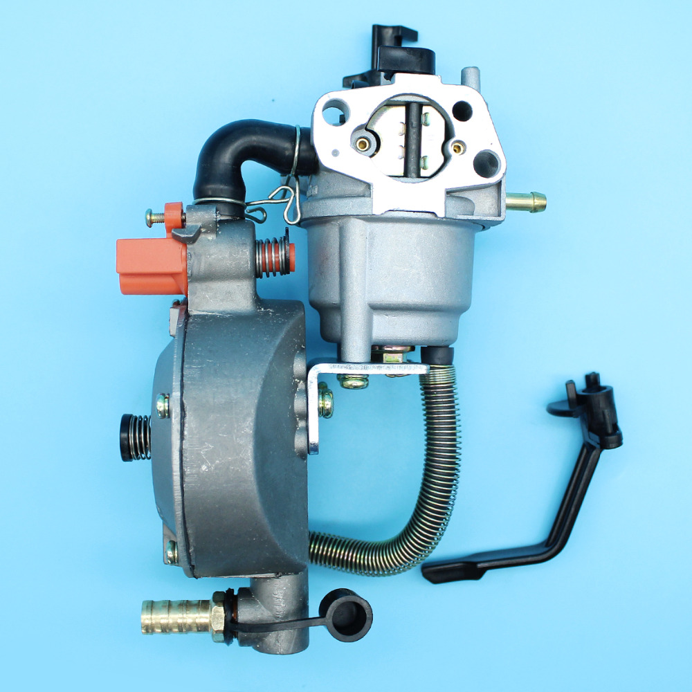 Carburetor Dual Fuel Conversion Kit For Honda GX160 GX200 168F 170F 2KW-3KW Generator Engine LPG/CNG Gasoline Carb Assembly new design jiwannian lpg&cng carburetor three way conversion kit for gx160 gx200 engine petrol & liquefield dual fuel carburetor page 4