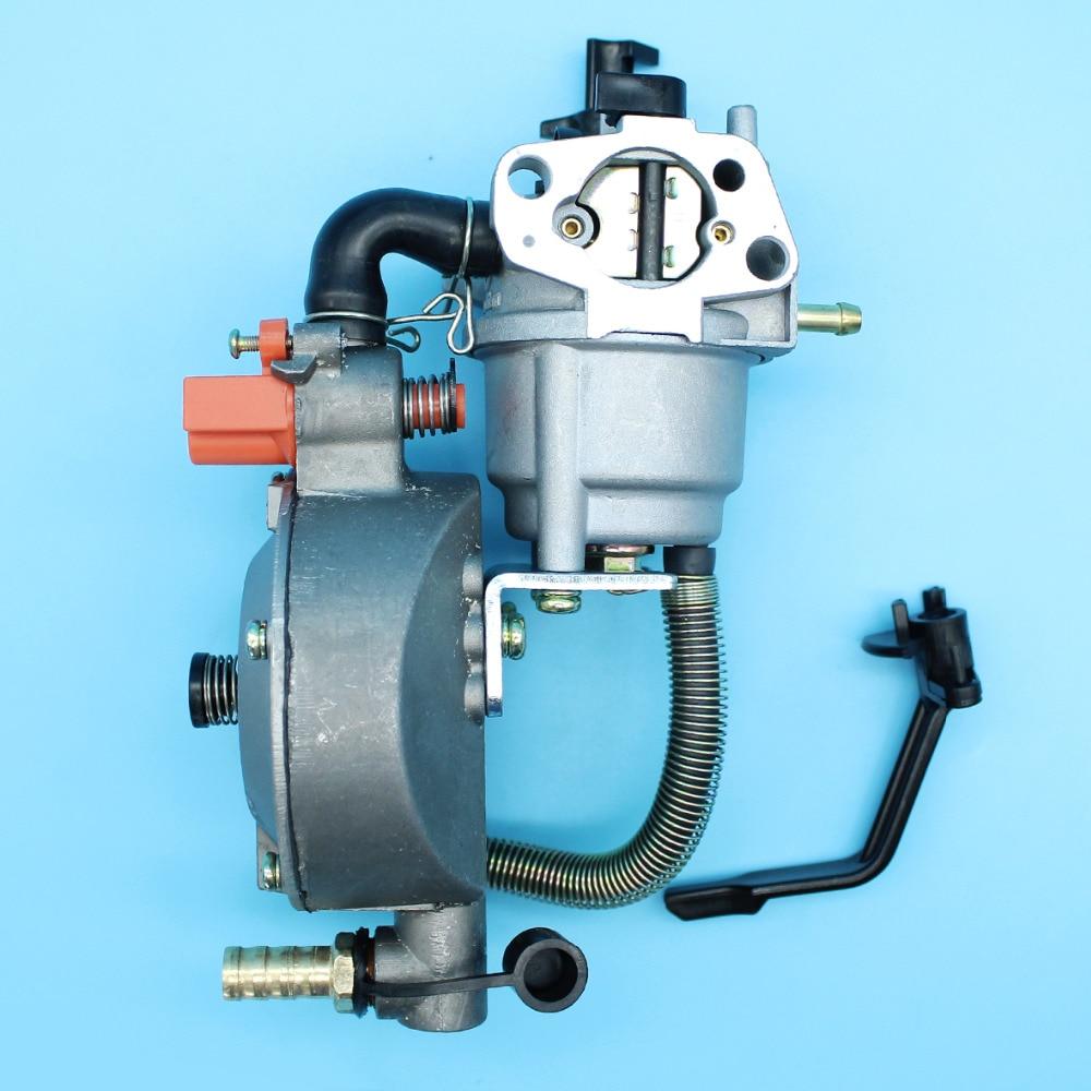 Gerador de Glp Kit de Conversão de Combustível para Honda Carburador Duplo 170f 2kw-3kw Motor – Gnv Gasolina Carb Montagem Gx160 Gx200 168f